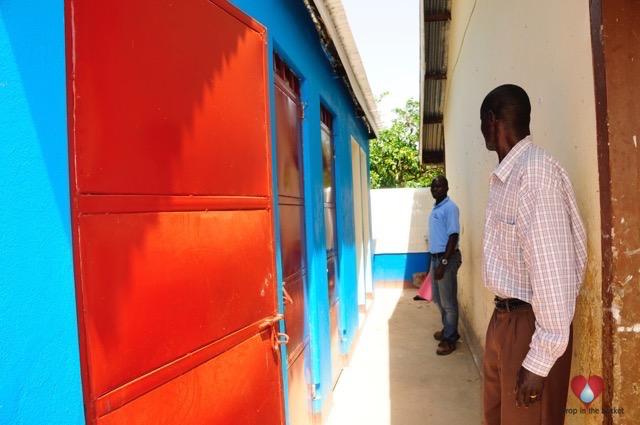 The boys toilets that Drop in the Bucket constructed at the St Francis Madera School for the Blind in Uganda