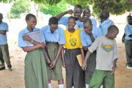 Drop in the Bucket Africa water charity, completed wells Lire Secondary School Well South Sudan Africa-16