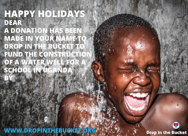 Drop in the Bucket 2016 holiday e-card image.
