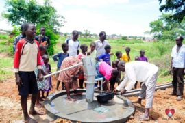 Drop in the Bucket Africa water charity, completed wells, Olemu Basere Borehole Uganda-08