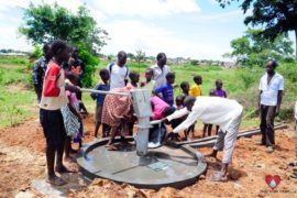 Drop in the Bucket Africa water charity, completed wells, Olemu Basere Borehole Uganda-09