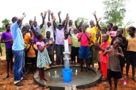 Drop in the Bucket Africa water charity, completed wells, Olemu Basere Borehole Uganda-28