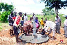 Drop in the Bucket Africa water charity, completed wells, Olemu Basere Borehole Uganda-51
