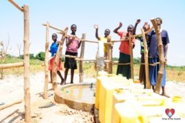 Drop in the Bucket Africa water charity, completed wells, Agirigiroi Ajiki Borehole Well Uganda-76