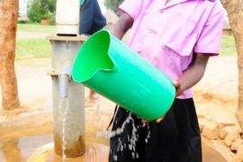 Drop in the Bucket Africa water charity, completed wells, Father Amoding Primary School Well Uganda-16