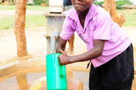 Drop in the Bucket Africa water charity, completed wells, Father Amoding Primary School Well Uganda-18