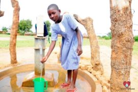 Drop in the Bucket Africa water charity, completed wells, Father Amoding Primary School Well Uganda-21