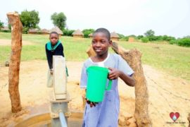 Drop in the Bucket Africa water charity, completed wells, Father Amoding Primary School Well Uganda-24