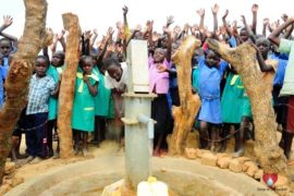 Drop in the Bucket Africa water charity, completed wells, Father Amoding Primary School Well Uganda-42