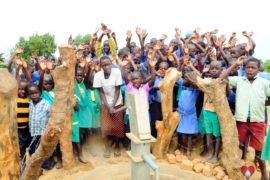 Drop in the Bucket Africa water charity, completed wells, Father Amoding Primary School Well Uganda-43