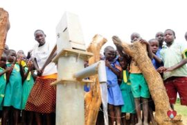 Drop in the Bucket Africa water charity, completed wells, Father Amoding Primary School Well Uganda-46