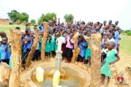 Drop in the Bucket Africa water charity, completed wells, Father Amoding Primary School Well Uganda-50