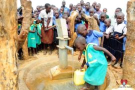 Drop in the Bucket Africa water charity, completed wells, Father Amoding Primary School Well Uganda-51