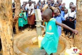 Drop in the Bucket Africa water charity, completed wells, Father Amoding Primary School Well Uganda-52