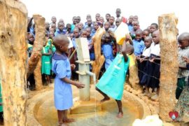 Drop in the Bucket Africa water charity, completed wells, Father Amoding Primary School Well Uganda-53