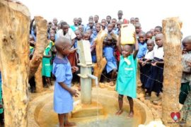 Drop in the Bucket Africa water charity, completed wells, Father Amoding Primary School Well Uganda-54