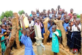Drop in the Bucket Africa water charity, completed wells, Father Amoding Primary School Well Uganda-55