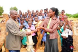 Drop in the Bucket Africa water charity, completed wells, Father Amoding Primary School Well Uganda-59