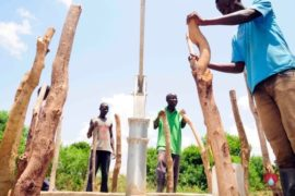 Drop in the Bucket Africa water charity, completed wells, Nyaguo Agonga Borehole Well Uganda-05