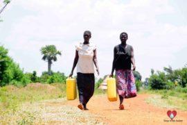 Drop in the Bucket Africa water charity, completed wells, Nyaguo Agonga Borehole Well Uganda-19