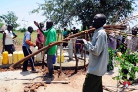 Drop in the Bucket Africa water charity, completed wells, Nyaguo Agonga Borehole Well Uganda-32