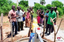 Drop in the Bucket Africa water charity, completed wells, Nyaguo Agonga Borehole Well Uganda-37