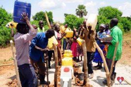 Drop in the Bucket Africa water charity, completed wells, Nyaguo Agonga Borehole Well Uganda-40