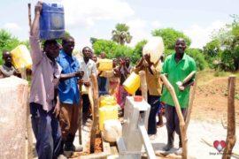 Drop in the Bucket Africa water charity, completed wells, Nyaguo Agonga Borehole Well Uganda-41