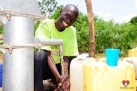 Drop in the Bucket Africa water charity, completed wells, Nyaguo Agonga Borehole Well Uganda-48
