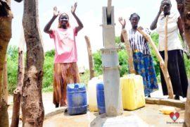 Drop in the Bucket Africa water charity, completed wells, Nyaguo Agonga Borehole Well Uganda-69