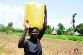 Drop in the Bucket Africa water charity, completed wells, Nyaguo Agonga Borehole Well Uganda-74