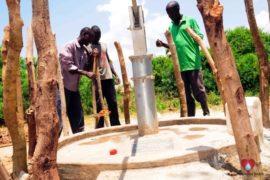 Drop in the Bucket Africa water charity, completed wells, Nyaguo Agonga Borehole Well Uganda-76