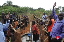 Drop in the Bucket Uganda water well Aisin village 10