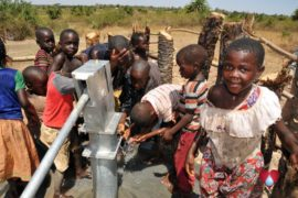 Drop in the Bucket Uganda water well Gwetom village 35