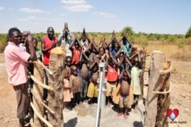 Drop in the Bucket Uganda water well Gwetom village 76