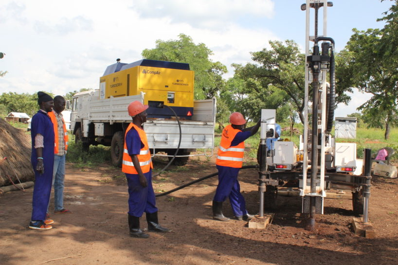 Drilling for water in Uganda with Drop in the Bucket highlighting World Water Week