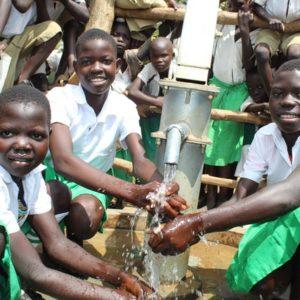 Africa water wells Uganda Koboko Padrombu Primary School