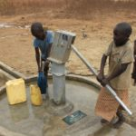 Drop in the Bucket Uganda water well Alim health center borehole07