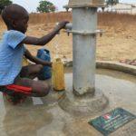 Drop in the Bucket Uganda water well Alim health center borehole12