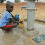 Drop in the Bucket Uganda water well Alim health center borehole16