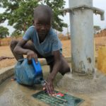 Drop in the Bucket Uganda water well Alim health center borehole19