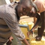 Drop in the Bucket Uganda water well Goan Quarters community borehole05