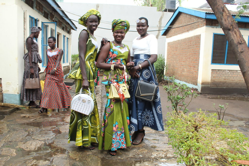 Graduating South Sudanese girls celebrate graduating secondary school in a program implemented by Drop in the Bucket
