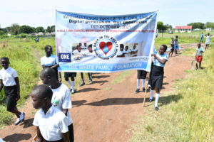 Drop in the Bucket participate in International Day of the Girl Child 2021 celebrations in Nimule, South Sudan